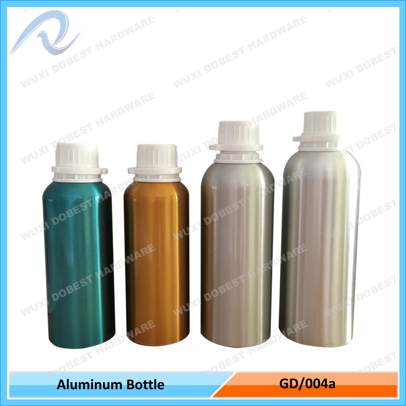 Hot Sale 1000ml Cosmetics Tamper Evident Cap Essential Oil Aluminum Bottles