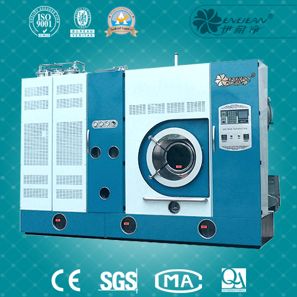 Fully automatic enclosed highgrade skim lether dry cleaning machine
