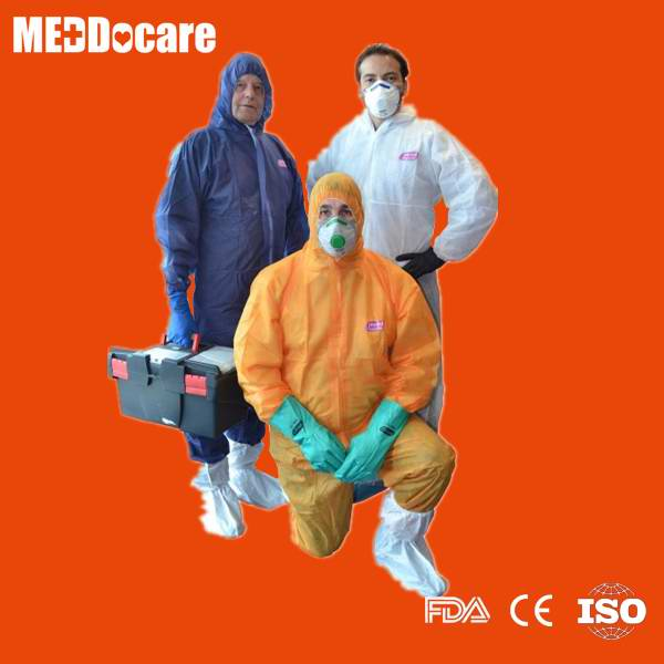 Disposable Nonwoven PP Ppe Waterproof Sms Boiler Suit Work Coverall