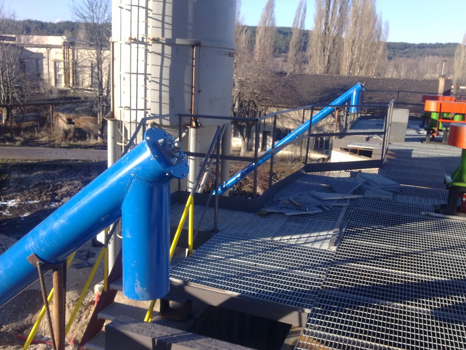 Screw Conveyor Steel Auger for Grain, Powder, Dry Sawdust, Cement - 6 m,  5,5 KW