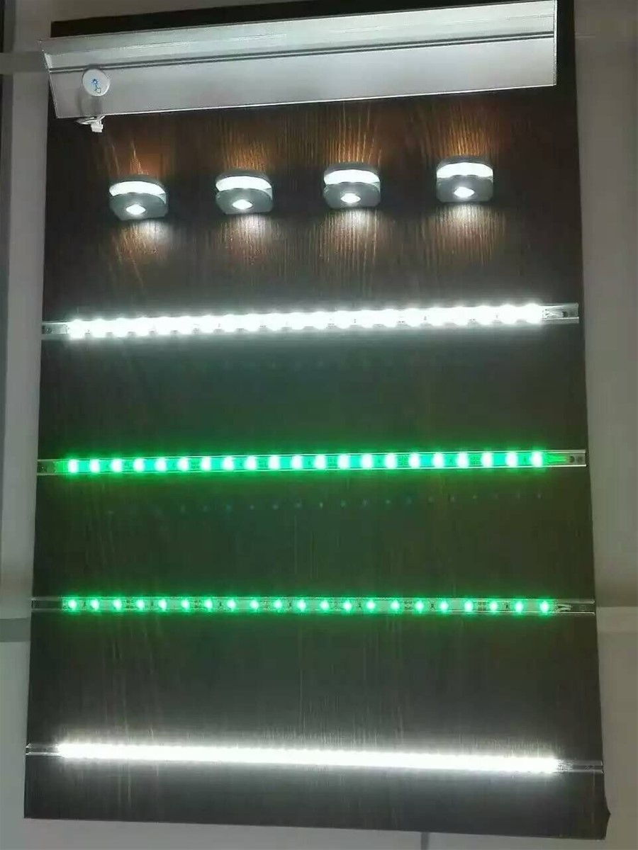 LED glass shelf light for 8mm glass