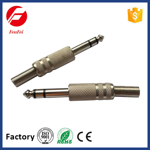 FenFei Nickel Plated 635mm Stereo Plug Metal With Spring