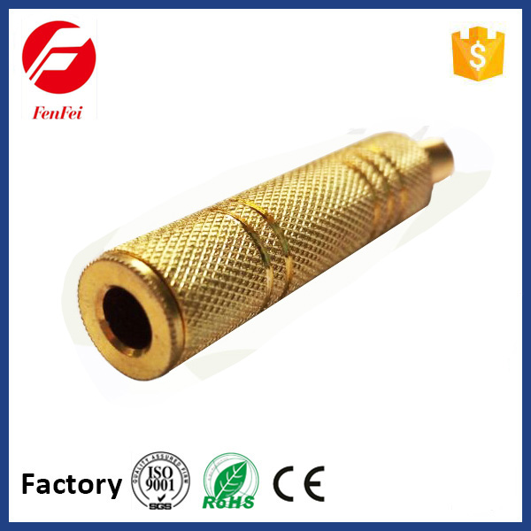 high quality 635mm audio video mono and stereo jack metal with spring