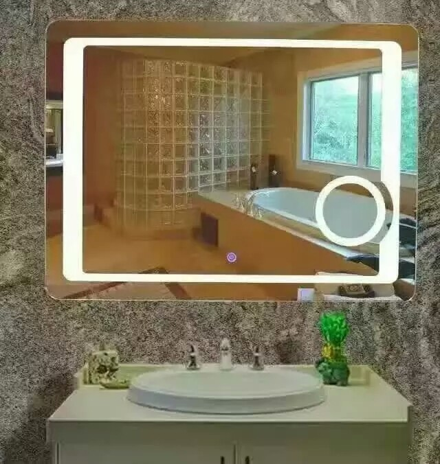 2017 Modern Illuminated LED Light Bathroom Mirror with 3X Magnifier ...
