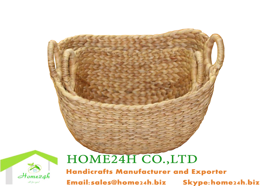 Vietnam Crafts Natural Storage Basket Water Hyacinth Best Selling
