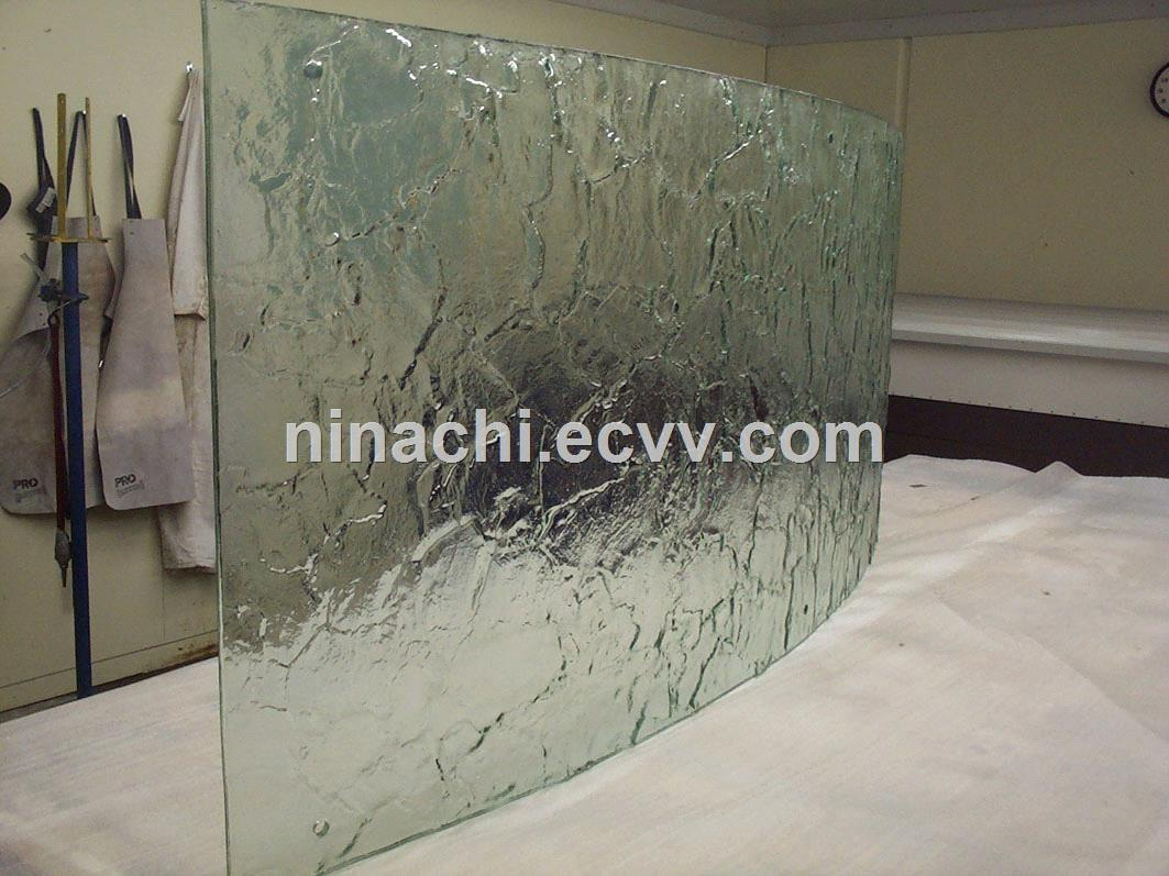 Cast in Place Liquid Resin Water like Glue Laminated Glass from