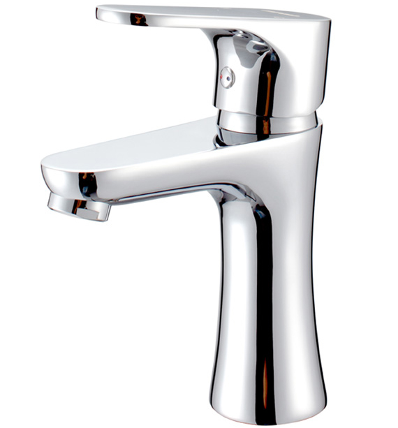 chrome brass ceramic cartridge bath sink high basin faucet mixer tap