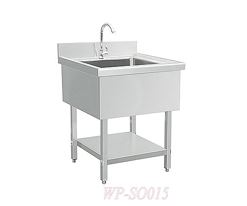 Stainless Steel Single Sink with Without Under Shelf