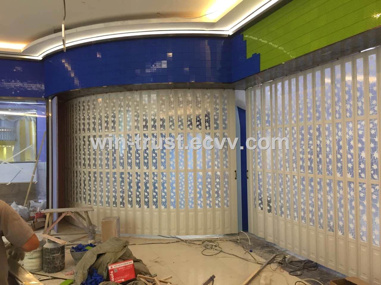Commercial Accordion Folding Doors/Frameless Polycarbonate Folding ...