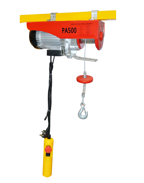 Mini Electric Wire Rope Hoist Cable Hoist with Upper Limit Hoist ...