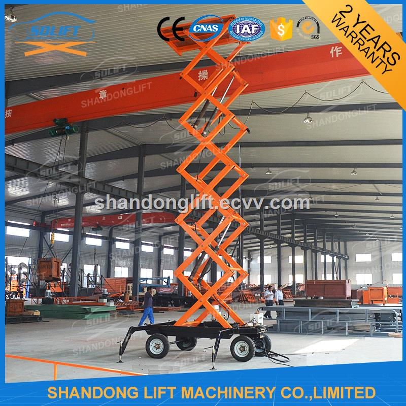 CE Certificate Chinese 8m Electric Aerial Man Lift with Loading 200kgs