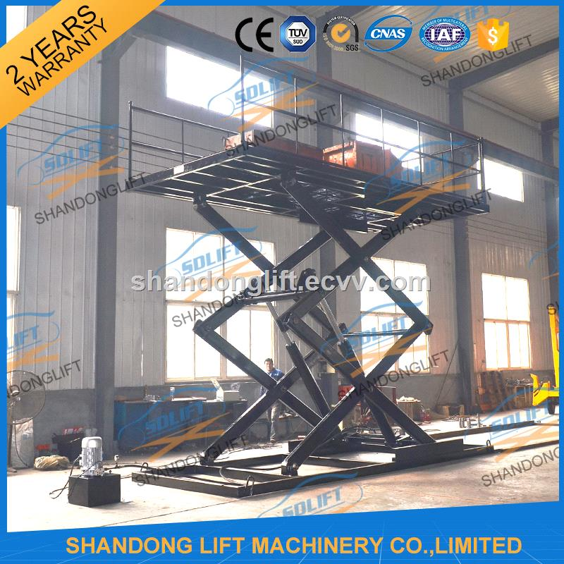 2 5m Automatic Hydraulic Scissor Type Garage Car Lift with CE