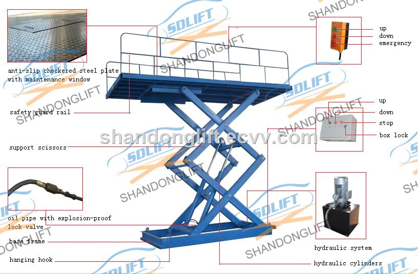 Hydraulic Lift Tubes : M electrical scissor hydraulic car lift for home garages