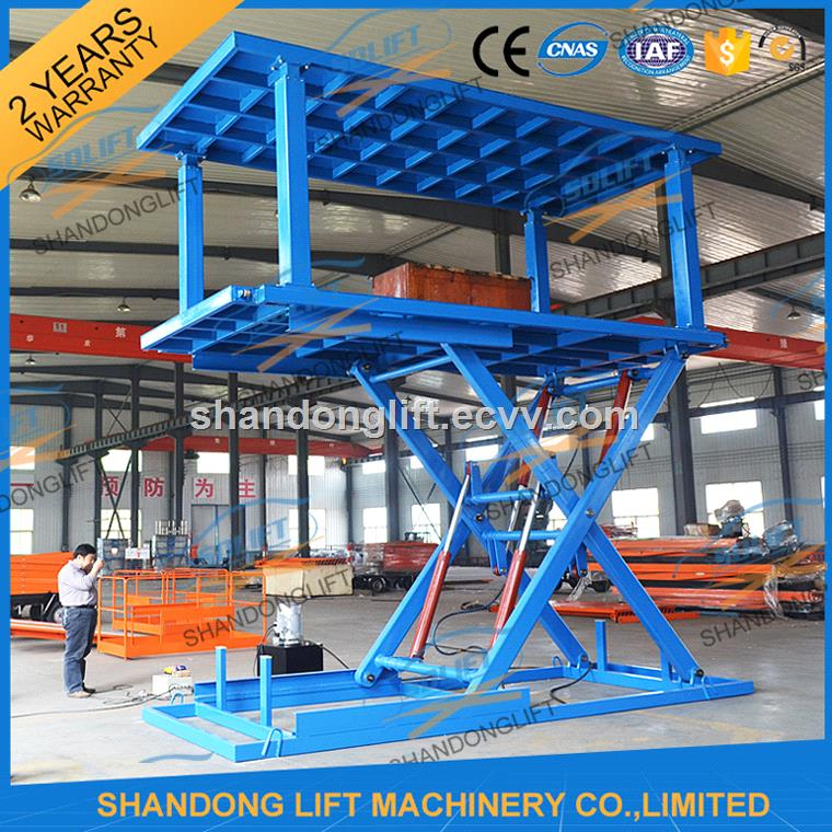 3M 3T Stationary Electric Hydraulic Scissor Car Lift with CE
