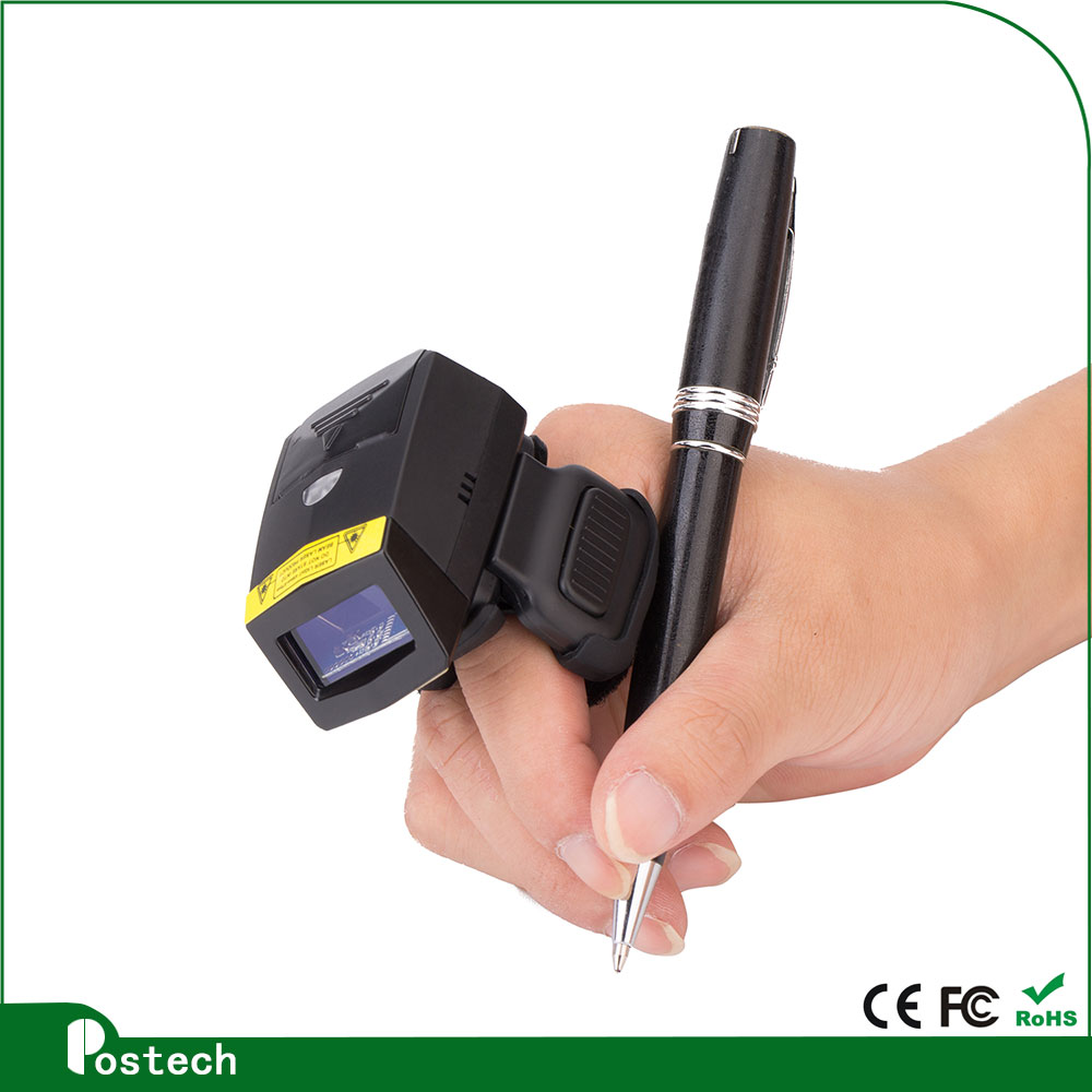 1D Laser Ring Finger Mini Barcode Reader Wearable Barcode Scanner for 5  Inch Mobile Phone with Wearable Data Terminal