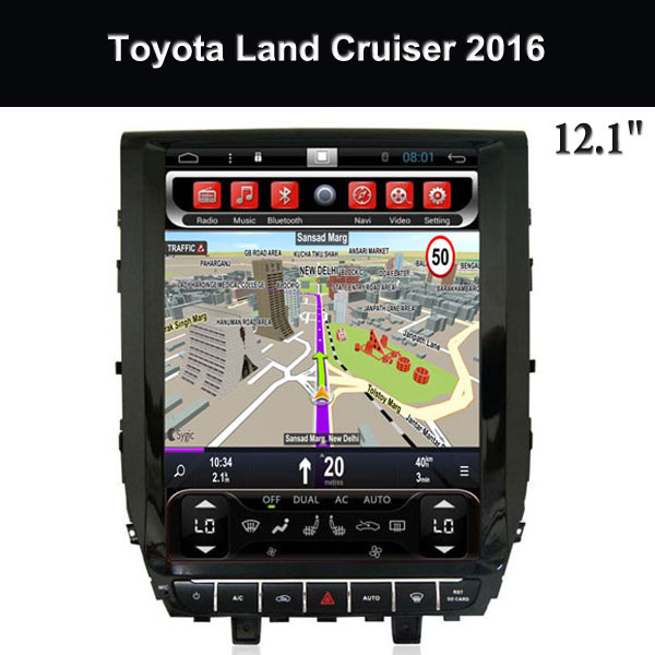 in Dash Car GPS Navigation 12.1 Inch Supplier Toyota Land Cruiser 2016