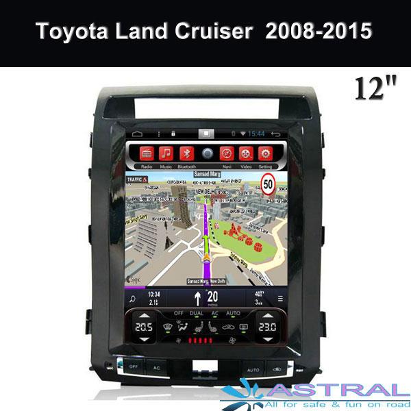Tesla Screen 12 1 Inch Toyota Navigation GPS Factory 2 DIN Car Audio Video  Player Land Cruiser 2008-2015