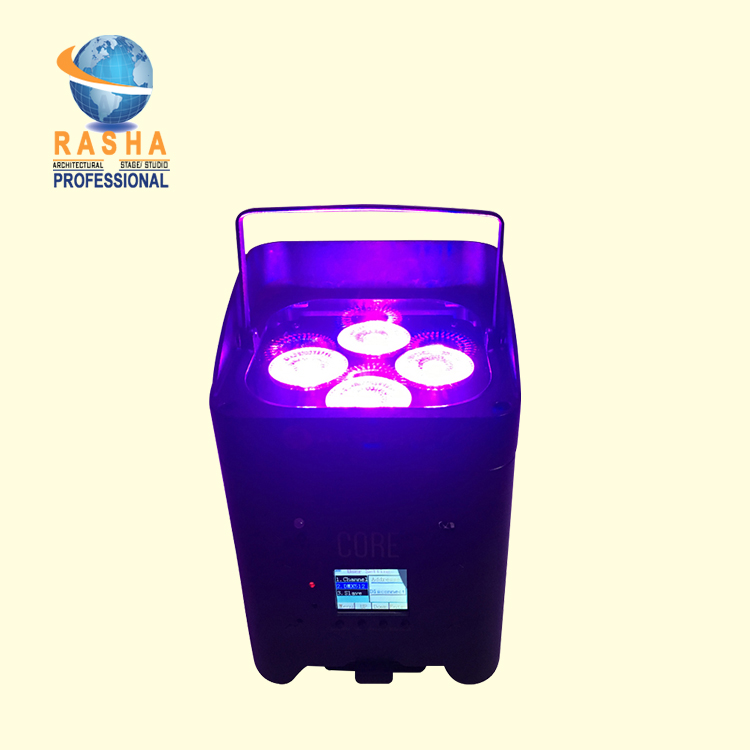 New Arrival Core Hex 418W APP Freedoom Battery Operated Chargable 6in1 RGABW UV LED Par Light Stage Par Projector