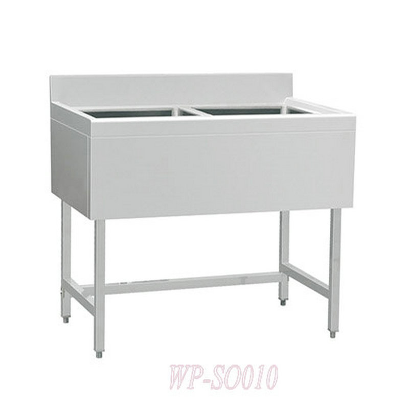 Stainless Steel Double Sinks WithWithout Under ShelfEuropean Style