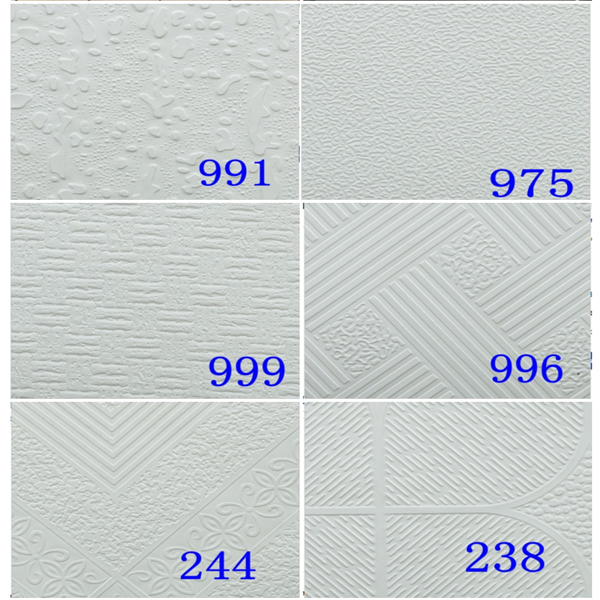 1230mm*600m*0.065mm PVC Film/ Foil for Ceiling Laminated