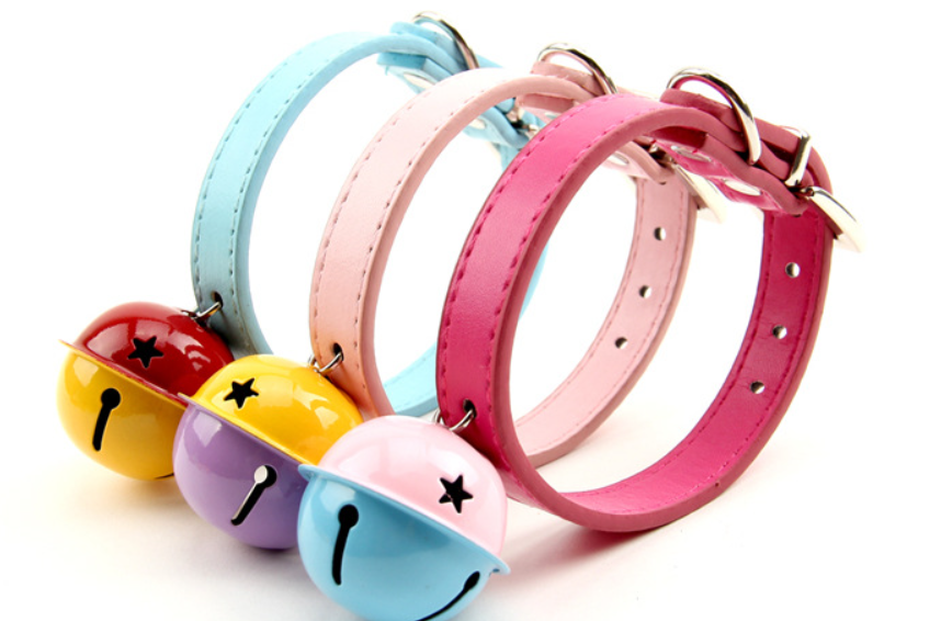 PET Collar PET Colorful Big Bell Dog Cat Collars & Leash