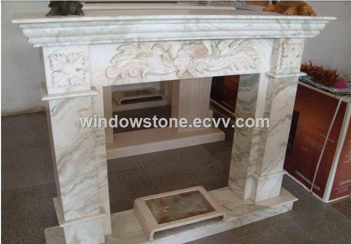 White Jade Marble Fireplace