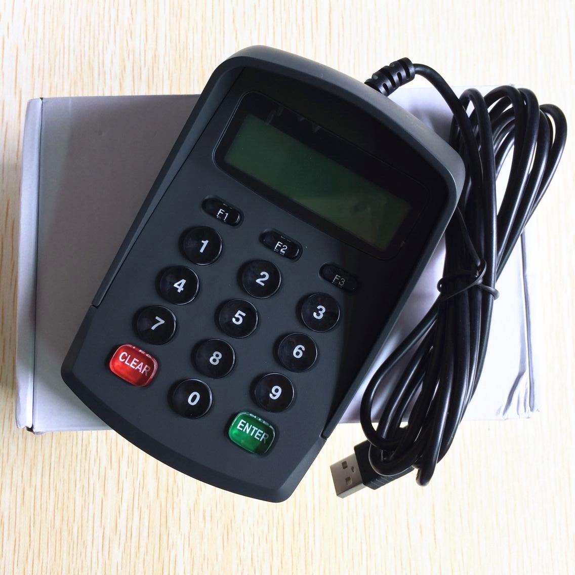 Plug Play Usb Pos Pinpad Digital Password Keyboard Numeric Keypad With Lcd
