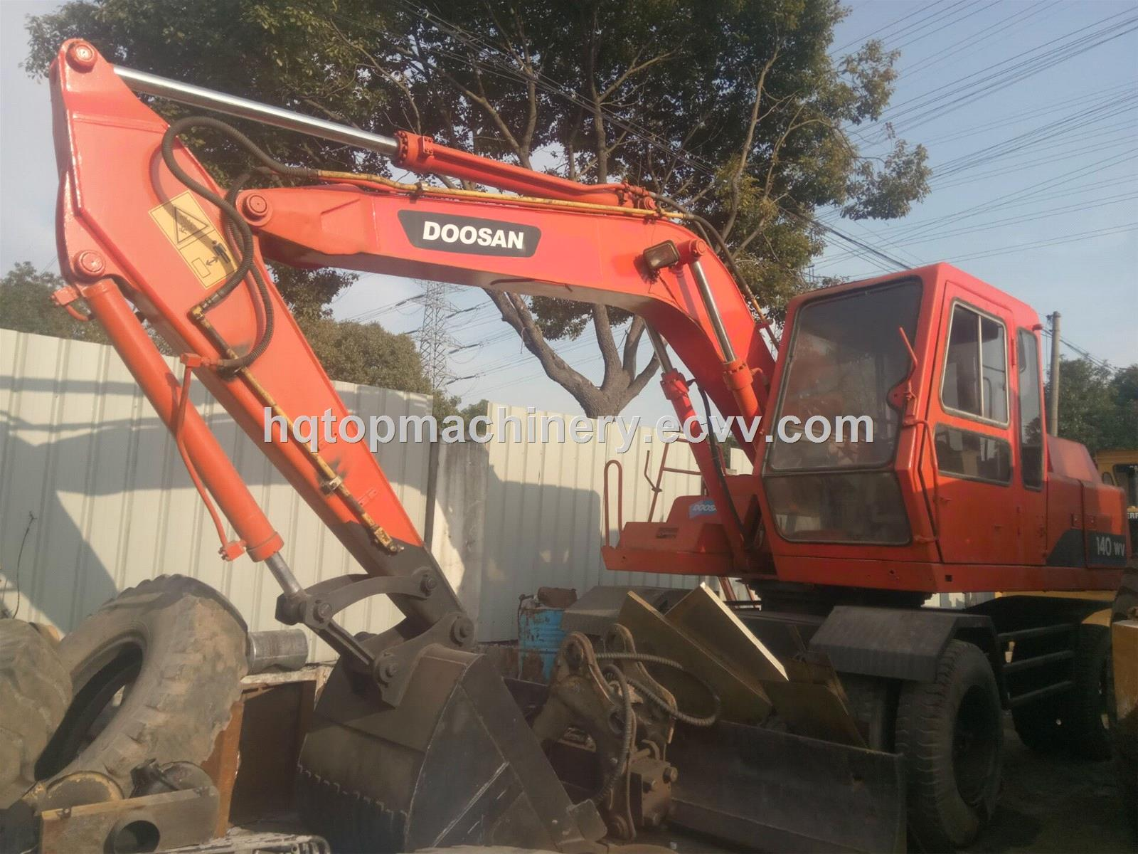 Secondhand Wheel DiggerDoosan Used WV140 140 140WD Wheel Excavator