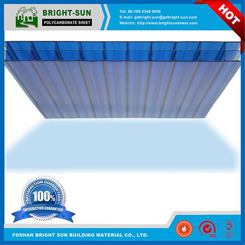 T Lexan Mokrolon Blue Multiwall Triple Wall Polycarbonate Sheet for Roof