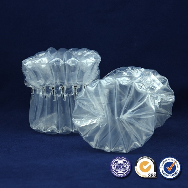 Factory wholesales air inflatable cushion packaging colunm bags for glass can