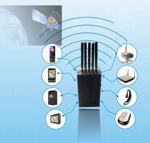 5 Antenna Portable Cell phone WIFi GPS L1 Jammer