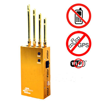 Powerful Golden Portable Cell phone WiFi GPS Jammer