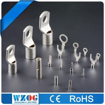 Tin Plated Copper Bare Terminals & Copper Tube Cable Lugs