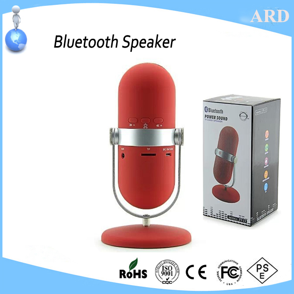 New style microphone shape stereo wireless bluetooth speaker