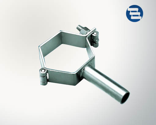 Stainless steel sanitary tri clamp support pipe hanger