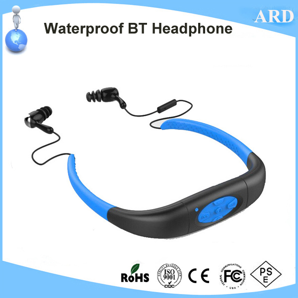 800ff9fa733 Hot IPX8 Rated Swimming Waterproof Bluetooth Headphone from China ...