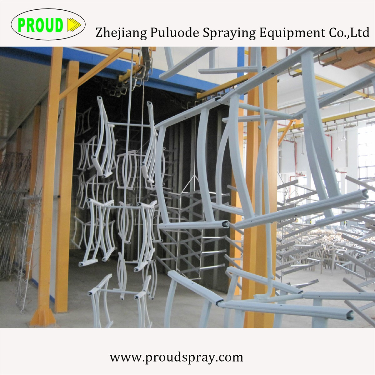 2017 Automatic Electrostatic Powder Coating Line