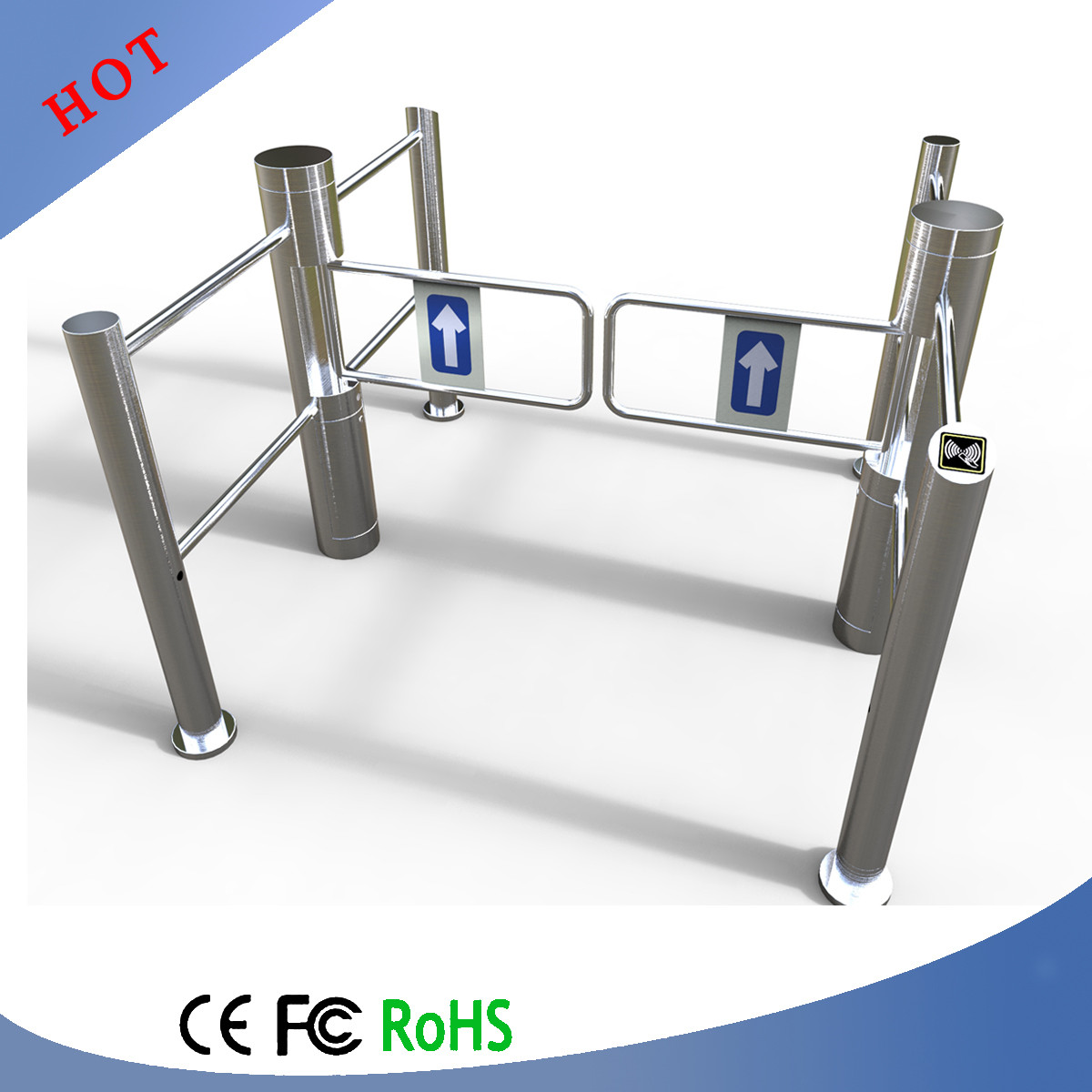 Access Card Barrier Gate, Small Swing Barrier Gate