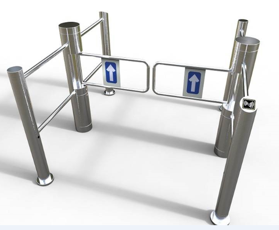 Supermarket Small Access Control Swing Gate Turnstile