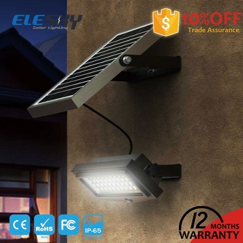 Motion sensor 10W solar emergency wall light with CE FCC RoHS IP65