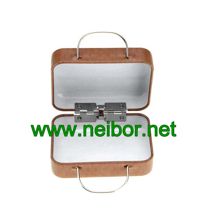 mini size wedding favor suitcase tin box with handle for candy chocolate packaigng
