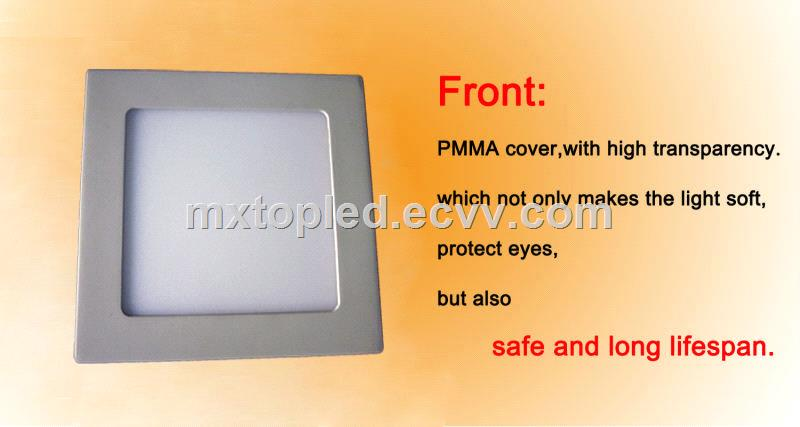 LM80 3w 6w 9w 12w 15w 18w 24w roundsquare led panel lights ceiling light for meeting room