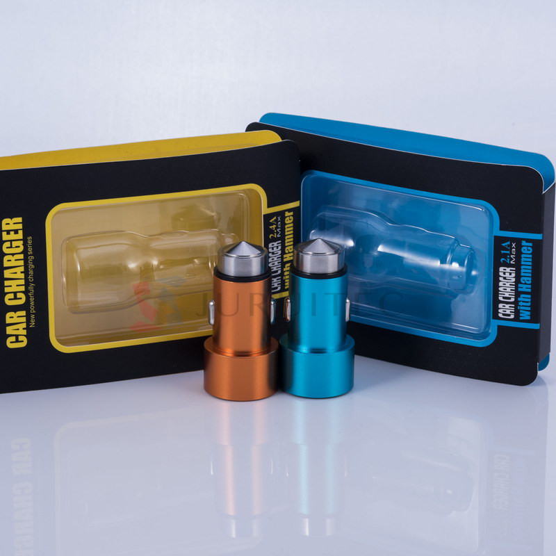 Emergency Hammer Bullet Shape DC5V 31A Max Universal USB Car Charger