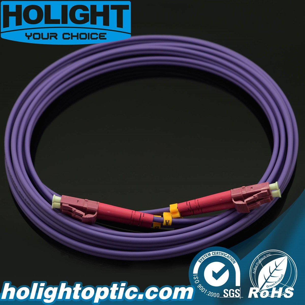 Fiber Patch Cord LC to LC Om4 Duplex Multimode