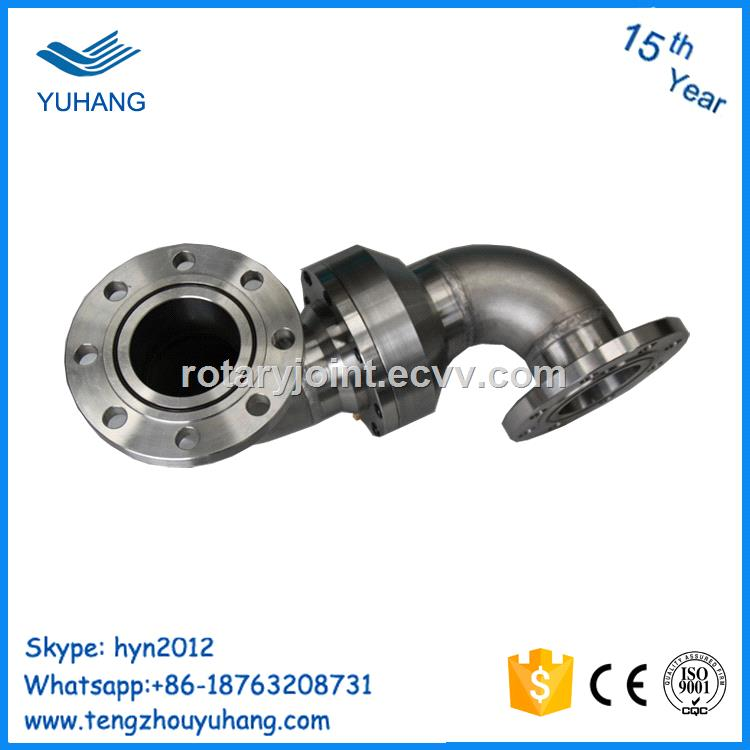 Stainless Steel High Pressure Hydraulic Swivel Joint Flange Connection High  Temperature Rotary Union
