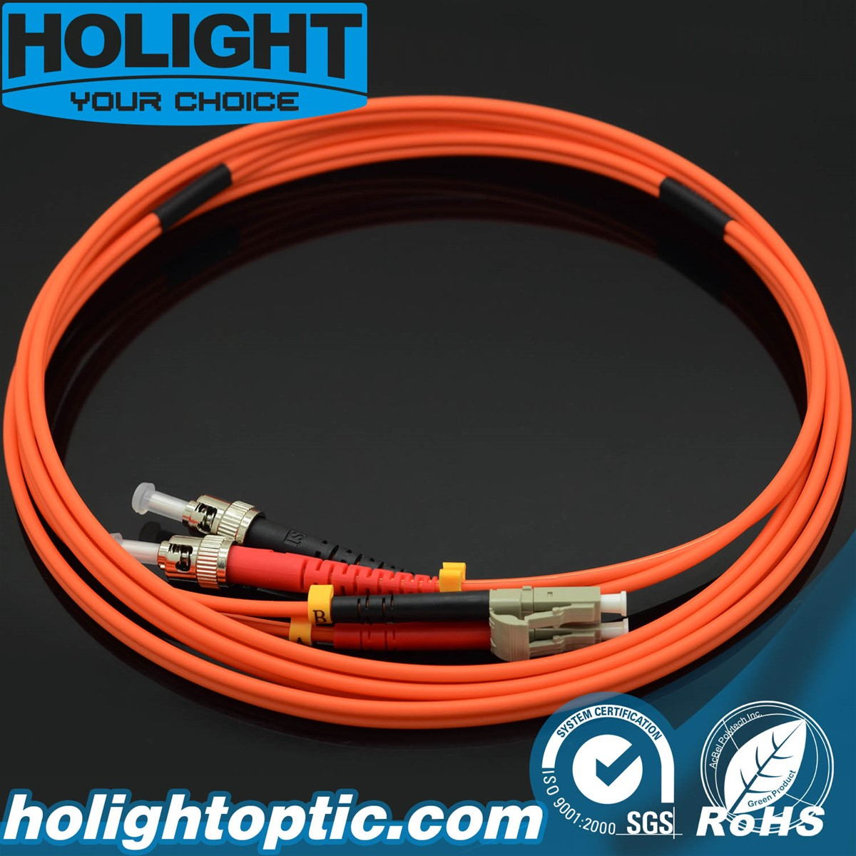 Fiber Patch Cord LC to ST Duplex Om1Om2