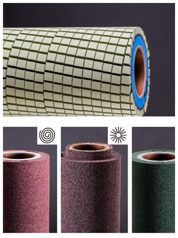 ceramic brush rollnonwoven brushnylon brush roll abrasive roll