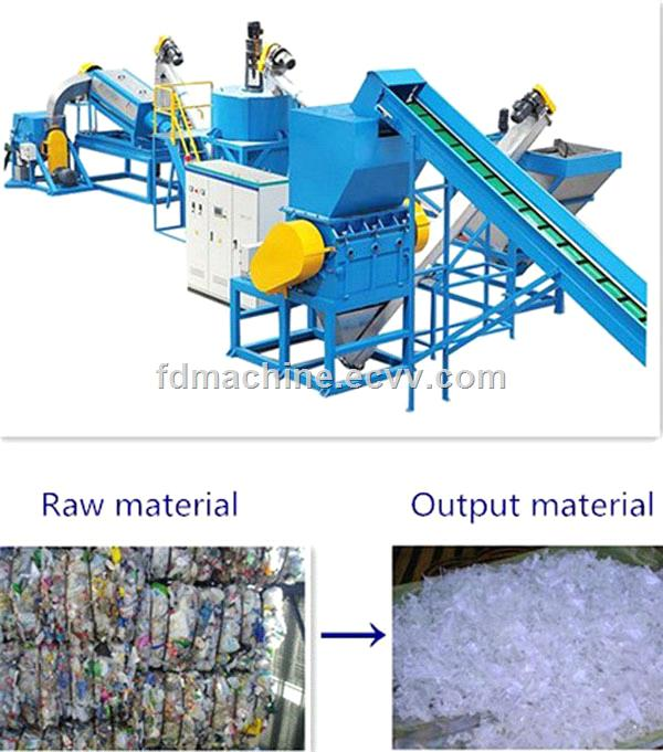 300-2000kg/h PET Recycling Washing Line