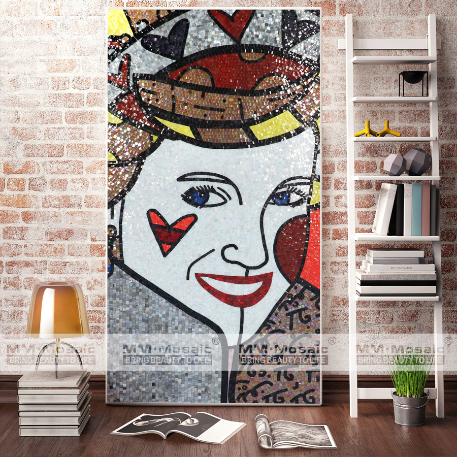 2017 Home Decoration Mosaic Art Beautiful Handmade Mosaic Mural Pictures
