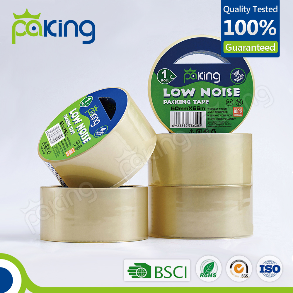 Free Sample Hot Sell Super Clear Low Noise Packing Tape